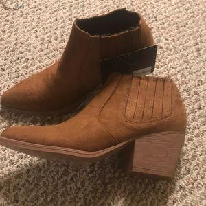 Brown tan booties forever 21 size 7